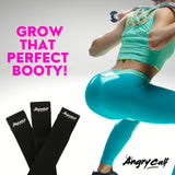 Grow the perfect booty with Angry Calf Back to Black Booty Bands for Booty Workouts Fitness Exercise Equipment Home Workout