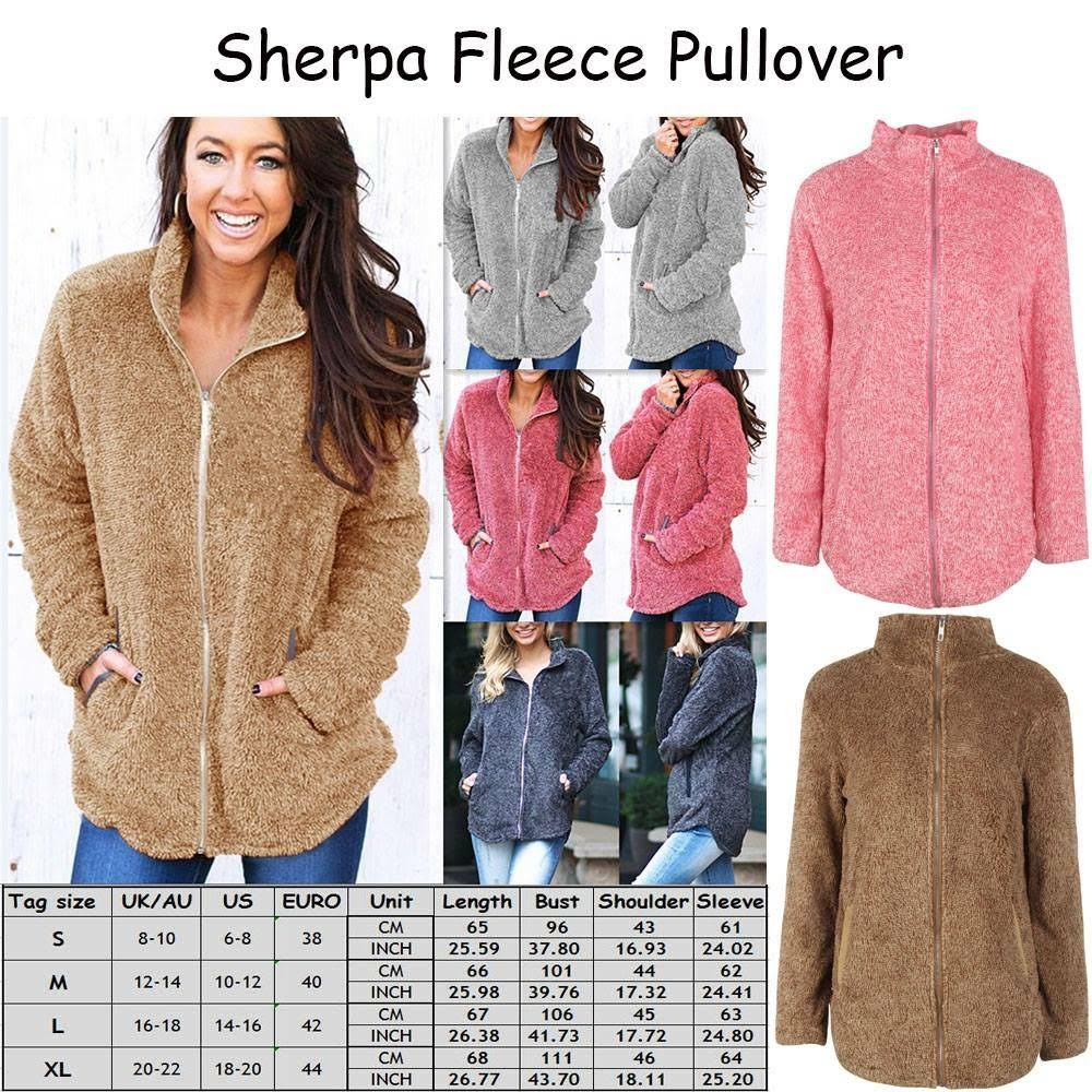 Full Zip Sherpa Sweater