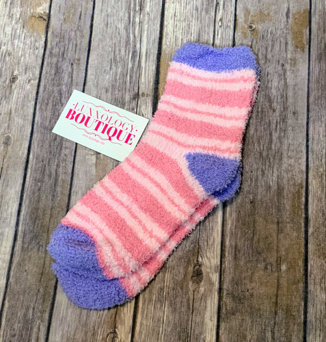 Adult Cozy Sherpa Tall Socks