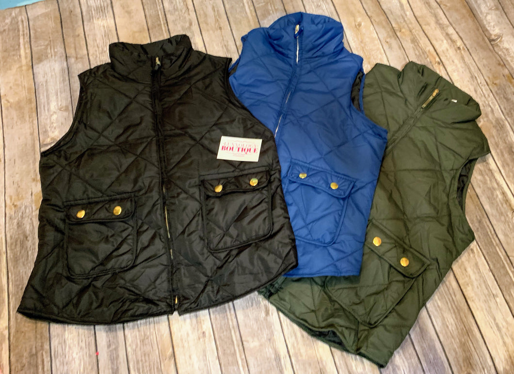 Lightweight Padded Quilted Vest