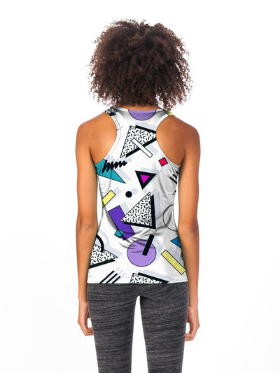 80s Memphis Women's Tech Tank