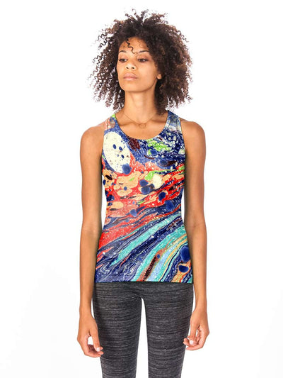 Mountain Marble Women's Tech Tank
