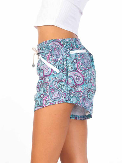 90s Vintage Paisley Women's Adventure Shorts