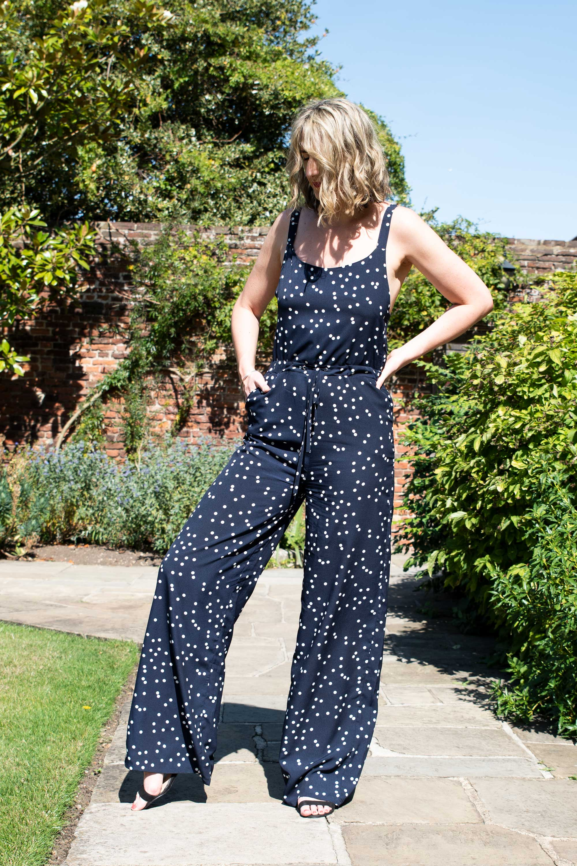 long-tall-legs-casual-polka-dot-jumpsuit