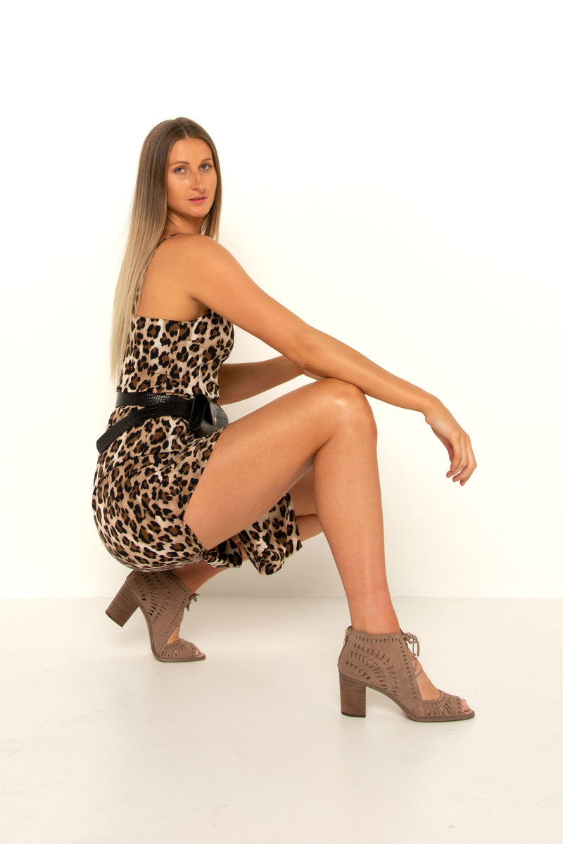 Sassy Leopard Split Dress
