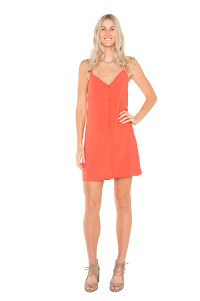 full-body-orange-cami-button-dress-tall-fitted-waistline