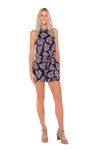 tall-tie-up-blue-floral-print-romper-playsuit-front-view-full-body