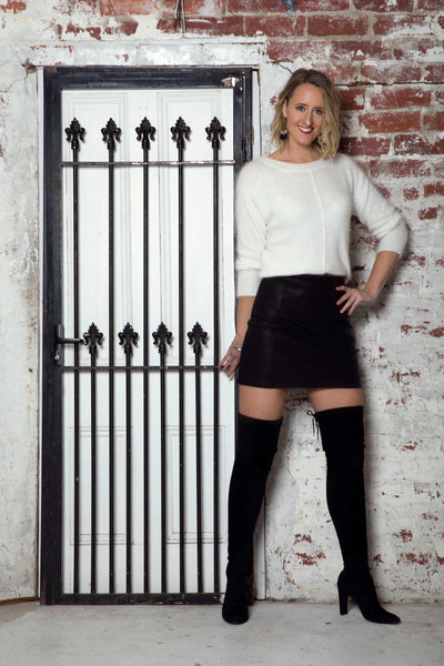 tall-faux-black-leather-skirt-front-work-wear-party-wear-high-rise-zip-back-fastening