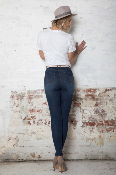 The Classic Dark Blue Jeans