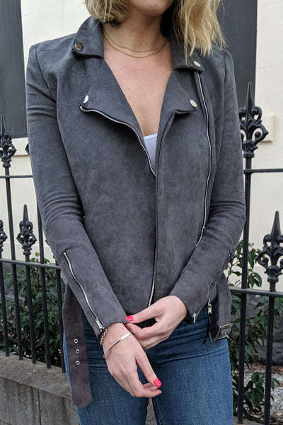 tall-faux-suede-jacket-close-front-detail-charcoal-zipped-cuffs-street-wear-outwear-flattering