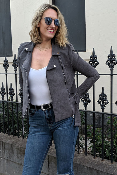 tall-faux-suede-jacket-close-front-charcoal-zipped-cuffs-street-wear-outwear-flattering