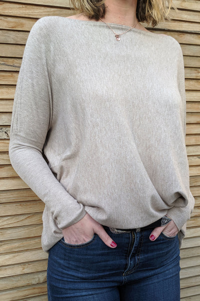 tall-super-soft-boxy-knit-close-up-hand-in-pockets-ribbed-sleeves-day-to-night-wear-