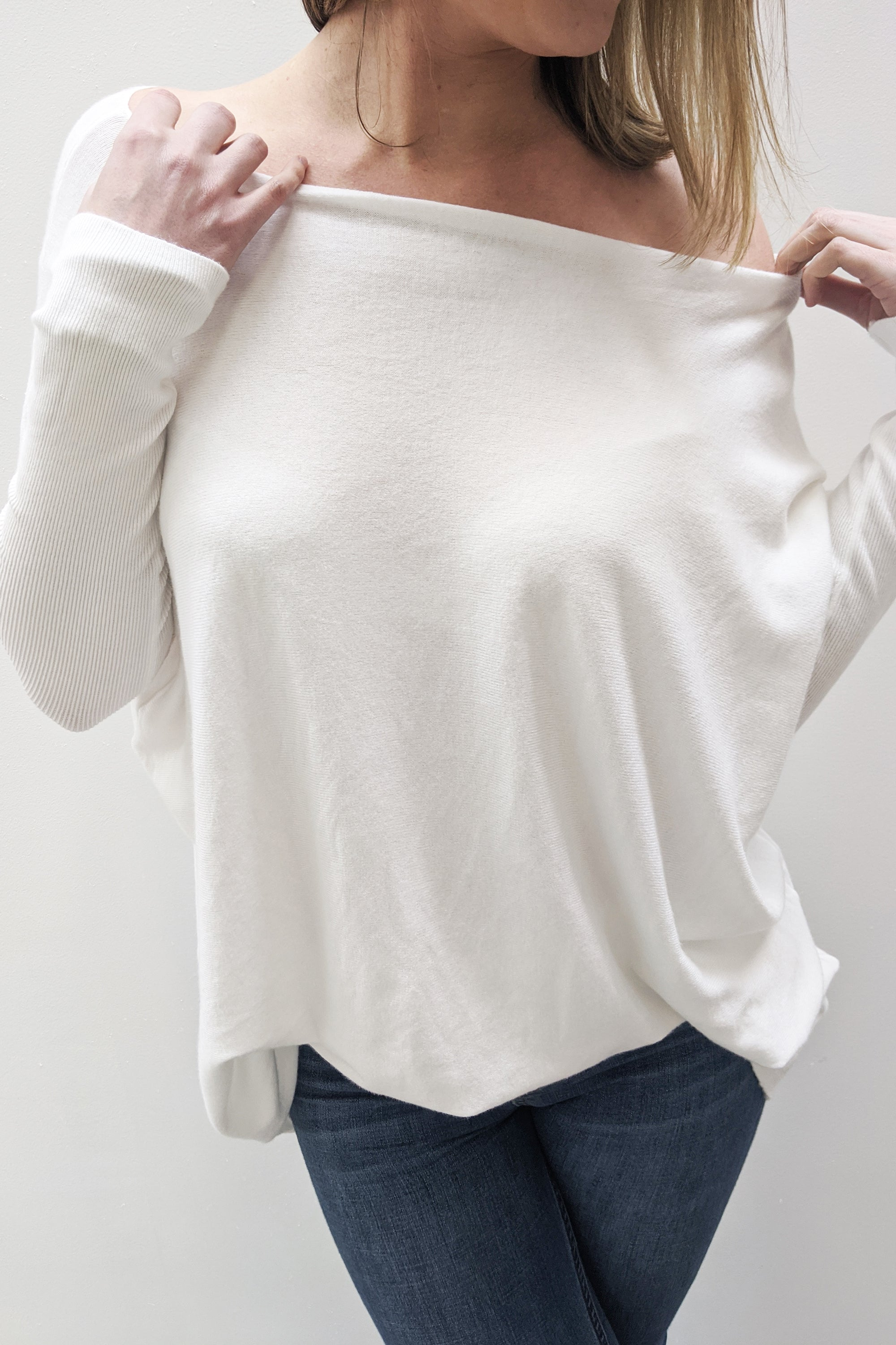 Super Soft Boxy Knit - White