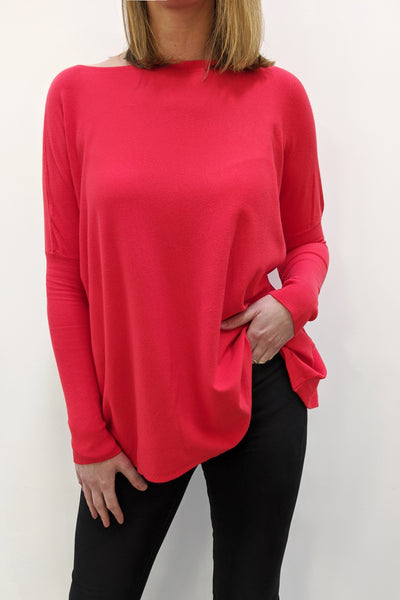 Super Soft Boxy Knit - Coral