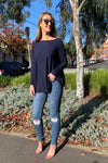 Super Soft Boxy Knit - Navy