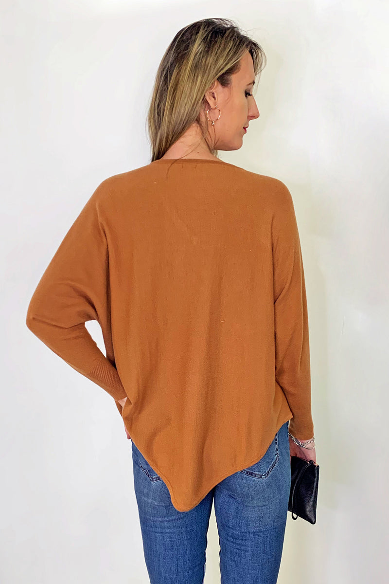front-close-tall-tan-cosy-knit-v-neckline