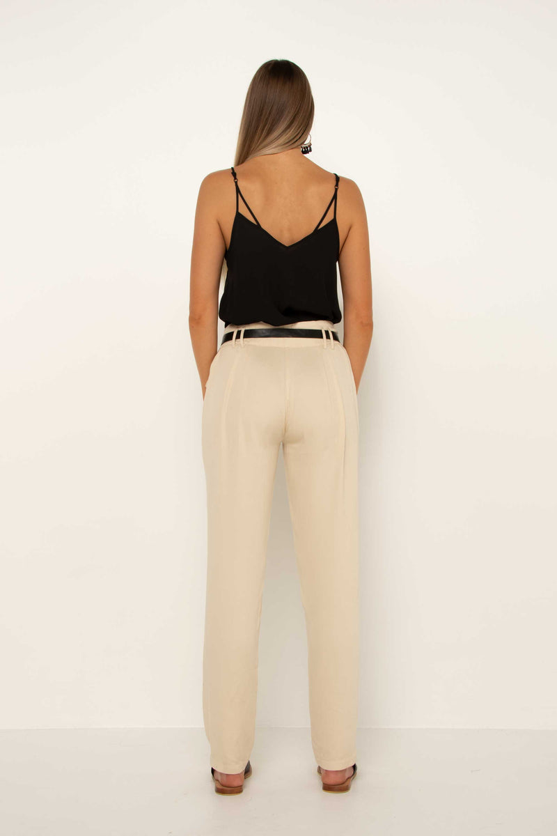 Cream Tapered Pant