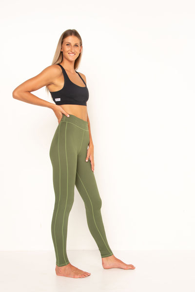 long-tall-khaki-stretch-leggings-side-view-high-rise-sports-active-wear-squat-proof-supportive-flattering