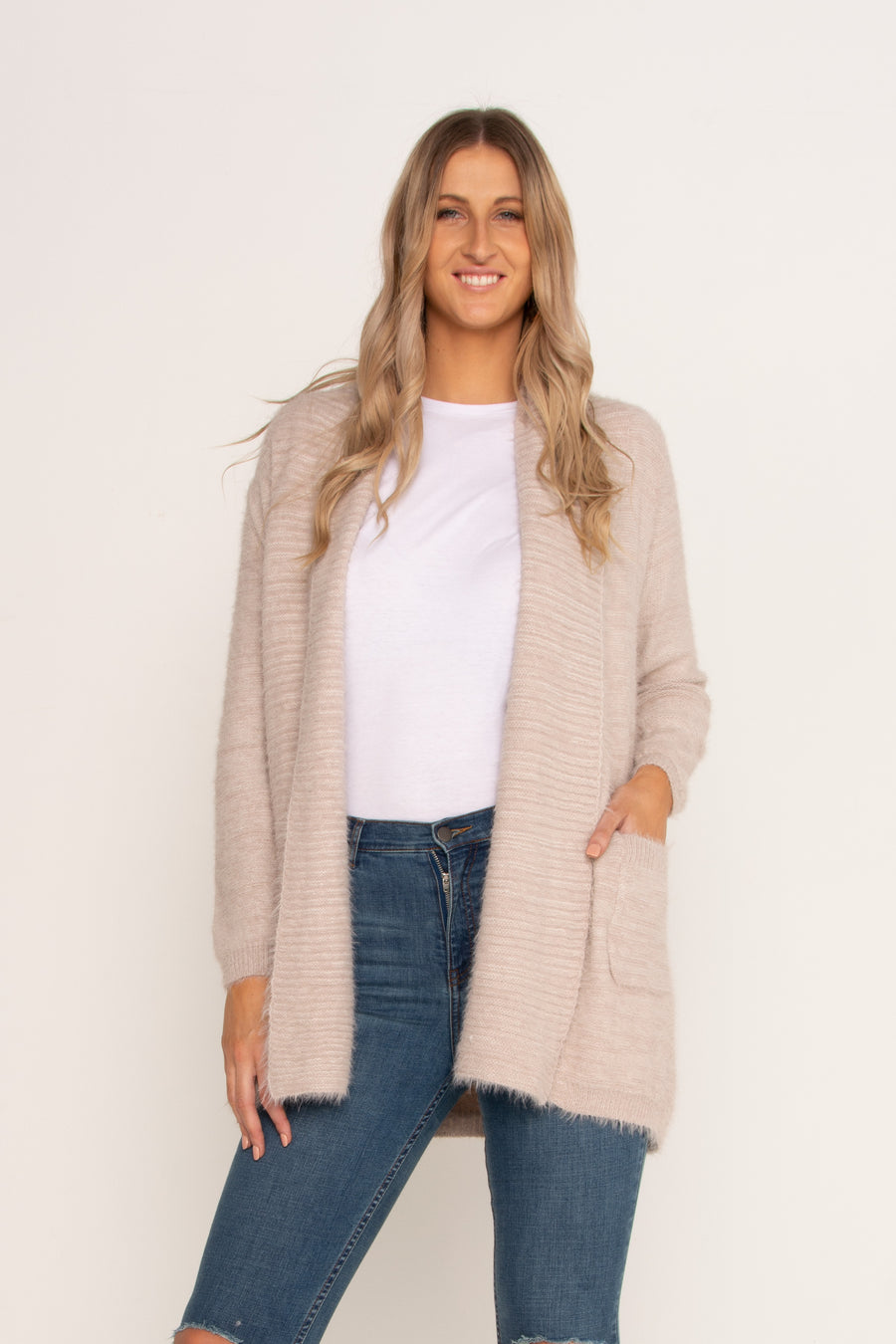 Dusty Pink Long Lined Jumper