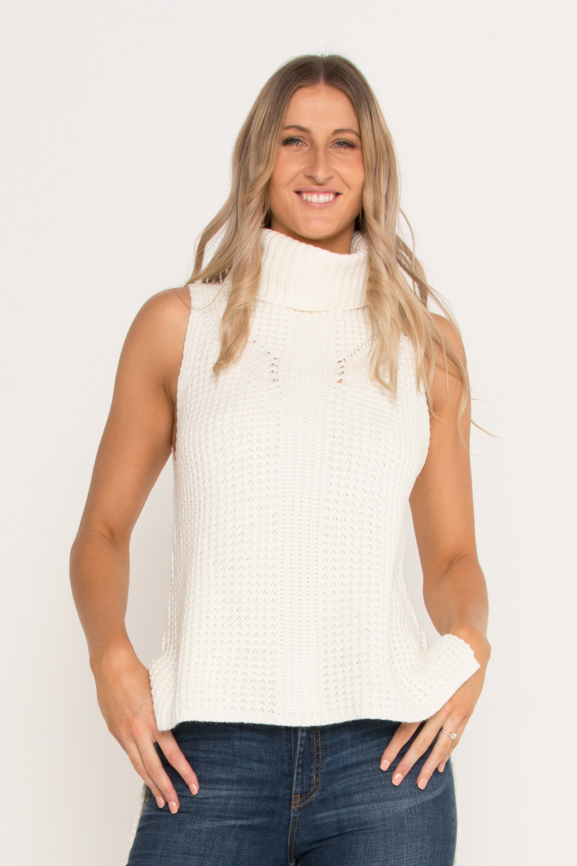 Sleeveless Roll Neck