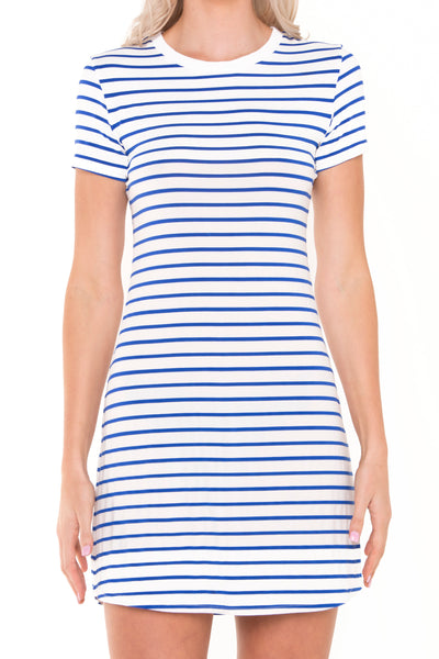 Nautical-stripe-tshirt-dress-close-up-front-view