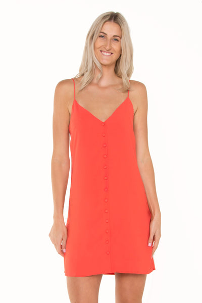 tall-orange-cami-button-up-dress-adjustable-straps-summer-look