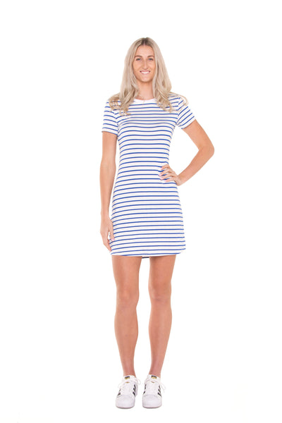 Tall-nautical-stripe-tshirt-dress-full-body-relaxed-look-softfront-view-