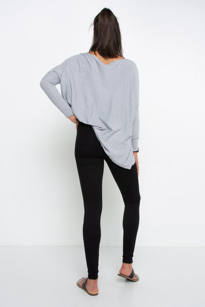 Super Soft Boxy Knit - Grey