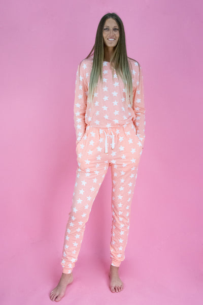 Pink Star PJ Set - Long Sleeve & Pants