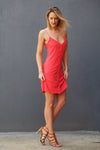 tall-woman-in-orange-button-front-cami-dress-height-of-fashion-collection