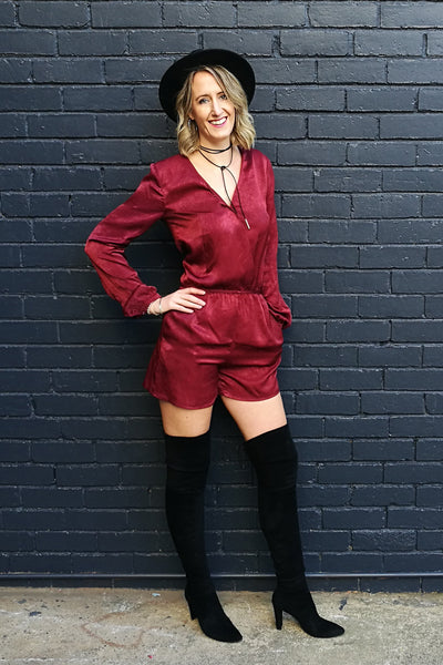 Raspberry-Cross-Over-Long-Sleeve-Playsuit-with-black-boots-fashion-outfit