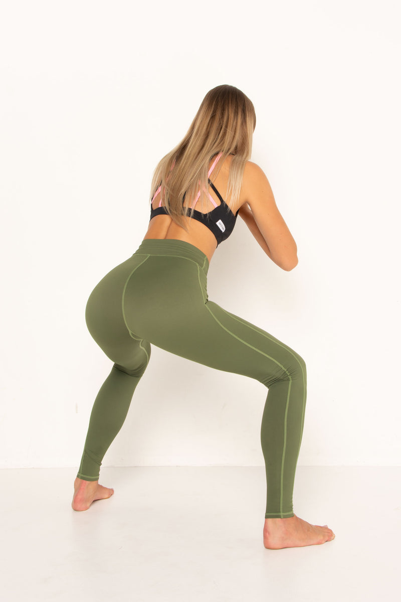 Khaki Stretch Leggings