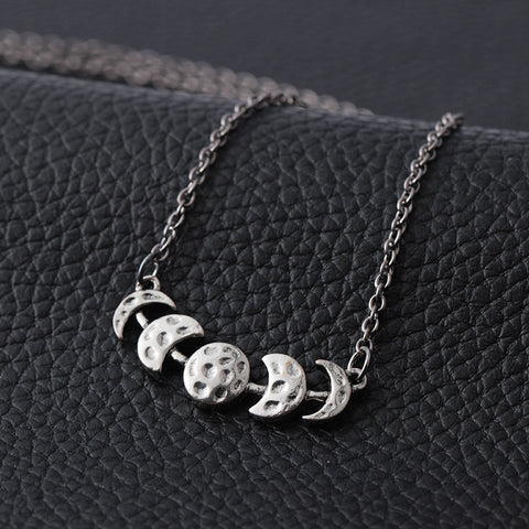 buy the best quality moon phases necklace online at Astrology by Melody