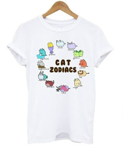buy best quality cat zodiacs t-shirt online at Astrology by Melody