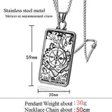 Wheel of Fortune Tarot Card Pendant Necklace