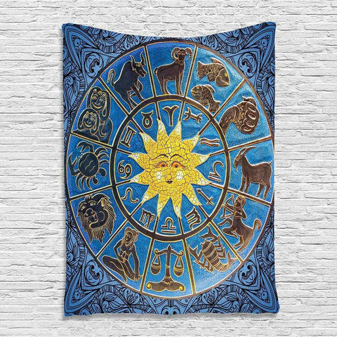 Zodiac & Sun Tapestry/Wall Hanging/Cover Up - Her Majesty's Goods