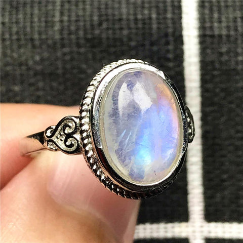 Moonstone Ring Adjustable