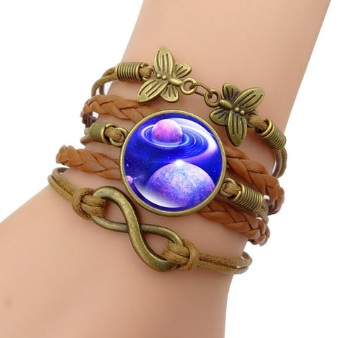 Multilayer Leather Galaxy Bracelets - Her Majesty's Goods