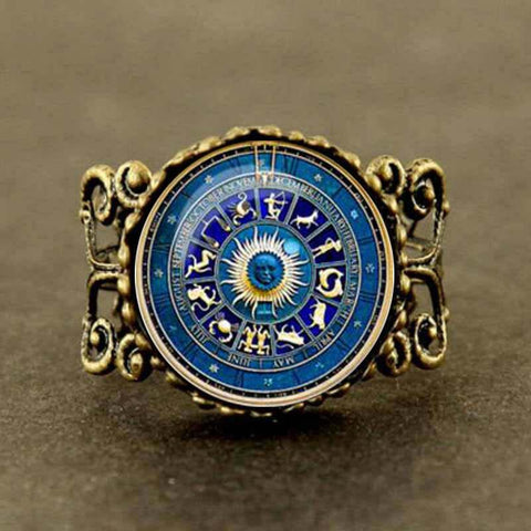 Statement Zodiac Wheel Filigree Ring - Her Majesty's Goods