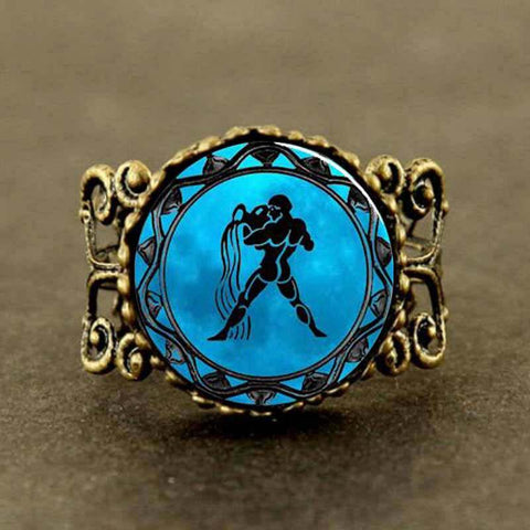 Aquarius Statement Filigree Ring - Her Majesty's Goods