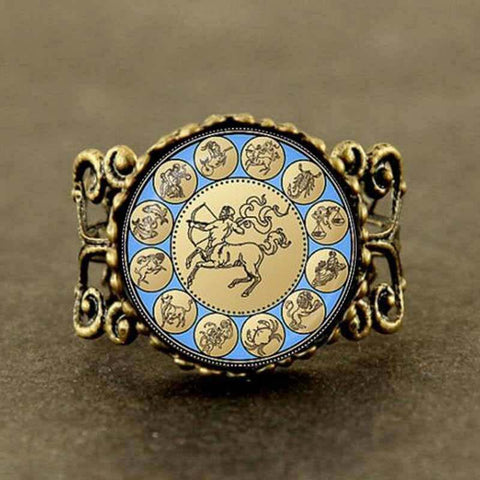 Statement Sagittarius Filigree Ring - Her Majesty's Goods