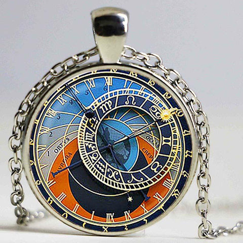 Astrological Clock Pendant Necklaces, Bracelets, Earrings, & Keychains - Her Majesty's Goods