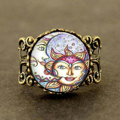 Sun & Moon Steampunk Ring - Her Majesty's Goods