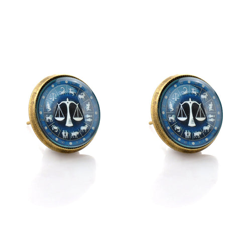 Libra Studded Earrings - Her Majesty's Goods