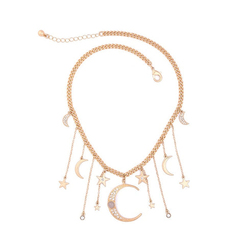 Crystal Moon Starry Necklace