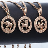 Zodiac Pendant Rose Gold Necklaces