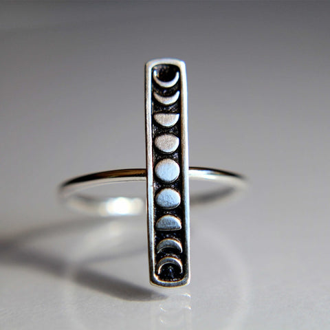 Buy Moon Phase Silver Stacking Ring online at Astrology by Melody