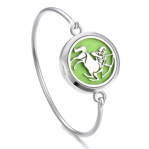 Essential Oil Diffuser Zodiac Bangle Bracelets