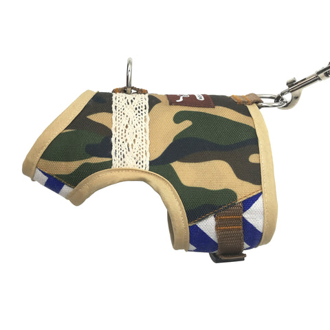 Escape Proof Cat Harness with Leash X-Small, Adjustable Cat Walking Jackets, Padded Cat Vest Camo