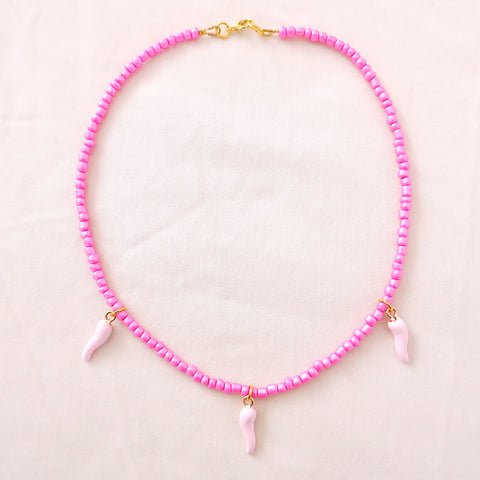 Pink Chilli Necklace